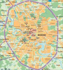 Russian Map Map Of Moscow Russia Map In The Atlas Of The World World Atlas