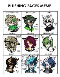 Faces Memes - blushing faces meme by dyedy on deviantart