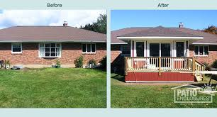 before u0026 after sunroom pictures patio enclosures projects