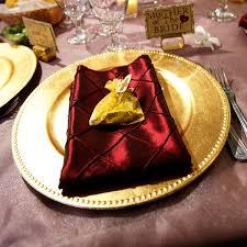 Wedding Table Decoration Burgundy And Gold Wedding