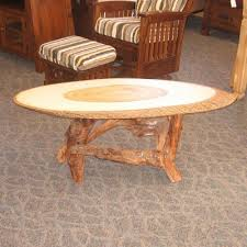 Wood Slab End Table by Golden Gate End Table Amish Oak
