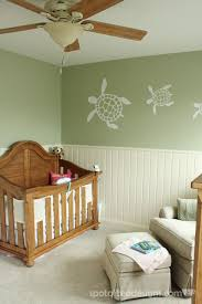 brinley u0027s beach themed nursery reveal turtle baby green cream