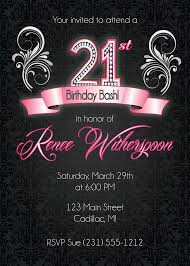 free 21st birthday invitations templates 28 images 25 best