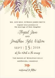 autumn wedding invitations autumn wedding invitations match your color style free