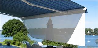 Retractable Awning With Screen Barnes Custom Window Treatments Boothbay Register