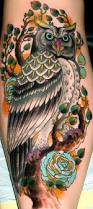 colorful owl tattoo meaning google search tattoos pinterest