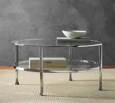brushed nickel coffee table brushed nickel coffee table tanner round coffee table polished