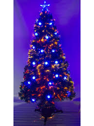 pre lit fiber optic tree image ideas trees