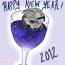new year pocket pocket garrus wishes everyone a happy new year 2012