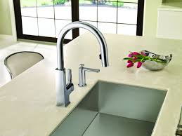 sensor faucets kitchen silver motion sensor kitchen faucet wide spread two handle pull