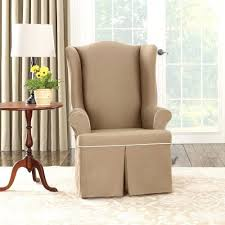 Beige Wingback Chair August 2017 Archives Wingback Chair Slipcover Slipcover For