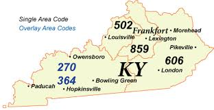 map of ky and surrounding areas nanpa number resources npa area codes