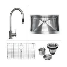 C Kitchen With Sink Boann C Skr3322 20 Stainless Steel Apron Front Kitchen Sink And
