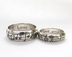 personalized wedding band your song wedding rings any song one of a sterling