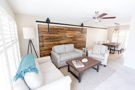 Wood Wall Living Room by Wall Coverings Porter Barn Wood