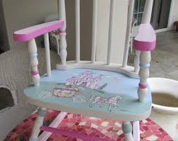 Pink Rocking Chair For Nursery Ballerina Rocking Chair Kid S Painted Rockers