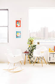 Collaborative Work Space My Scandinavian Home A Fresh Work Space In White And Orange