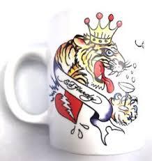 ed hardy mug kills slowly skull tiger mug