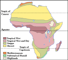 africa map climate zones climate regions africa map
