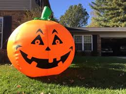 setting up an inflatable pumpkin for halloween youtube