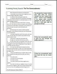 ten commandments dbq worksheet student handouts
