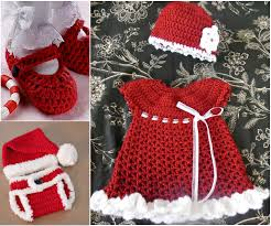 baby girl crochet the cutest christmas crochet gift set for