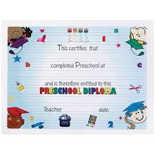 preschool certificates diplomas and certificates kids graduation s