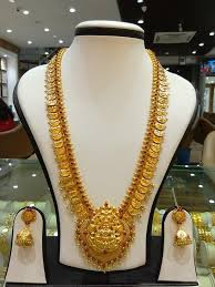 long necklace sets images Gold antique long necklace set from navkar gold world gold coin jpg