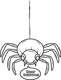 free printable halloween spider coloring kids 4