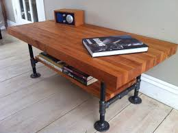 Diy Pipe Desk by Cherry Coffee Table Modern Industrial Style Featuring Butcher