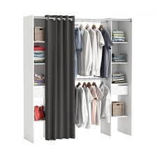 rideau placard chambre chambre meubles dressing pas cher placard avec rideau armoire ou