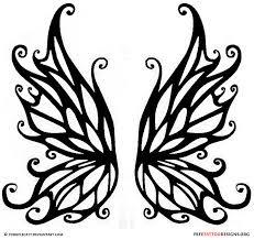 outline tinkerbell tattoo upper