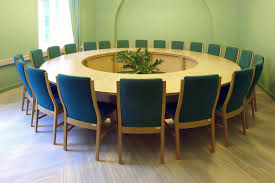 Rectangular Conference Table Choosing Round Or Rectangular Conference Tables Ofl Blog