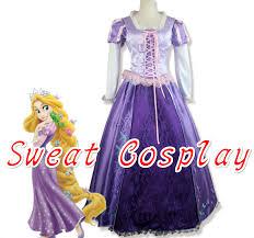 Tangled Halloween Costume Adults Cheap Tangled Rapunzel Costume Women Aliexpress
