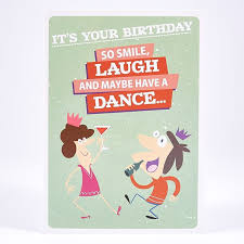humour birthday card u2013 smile laugh dance card factory