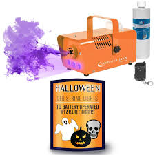 Halloween Black Light by Halloween Orange Fog Machine With Mini Led String Lights Idjnow