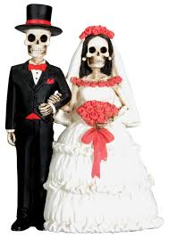 skull wedding cake toppers dod wedding skeleton collectible sculpture