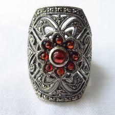 shop art deco garnet ring on wanelo