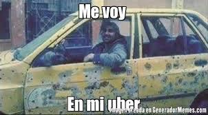Meme Uber - me voy en mi uber meme de y todo tranquilo por alla imagenes
