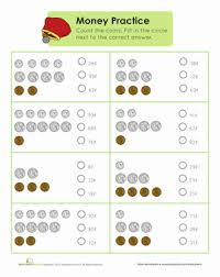 money practice worksheet education com