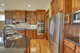 Rustic Alder Kitchen Cabinets 16205 2012 Smii Knotty Alder Java Cabinets Red Birch Flooring
