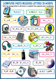 printable missing letters quiz computer parts esl printable worksheets and exercises