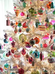christmas tree decorations retro beautiful vintage christmas tree