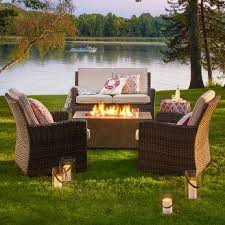 Patio Table With Firepit Pits Patio Heaters Target