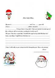 esl worksheets for beginners letter to santa claus