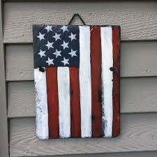 Fourth Of July Door Decorations July 4th Decorations American Flag Hand Painted Slate Patriot