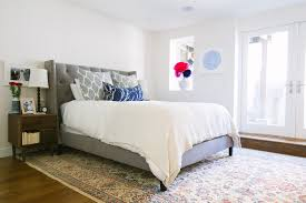 upholstered bed convention san francisco contemporary bedroom