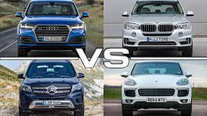 youtube lexus vs bmw audi q7 vs bmw x5 vs mercedes gls vs porsche cayenne youtube