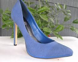 Cobalt Blue High Heels Blue Wedding Shoes Etsy
