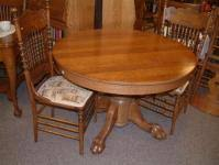 Antique Round Oak Pedestal Dining Table Salado Creek Antiques Listings For Tables